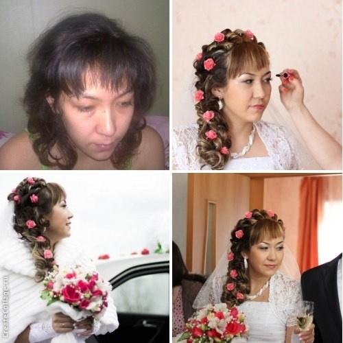 прически к подруге на свадьбу дома