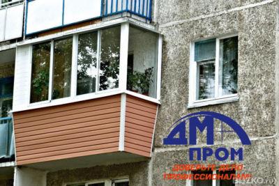 Остекление балкона с использованием 3-камерного профиля scmi.