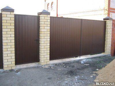 Распашные ворота в казани цены ставим ворота из профнастила