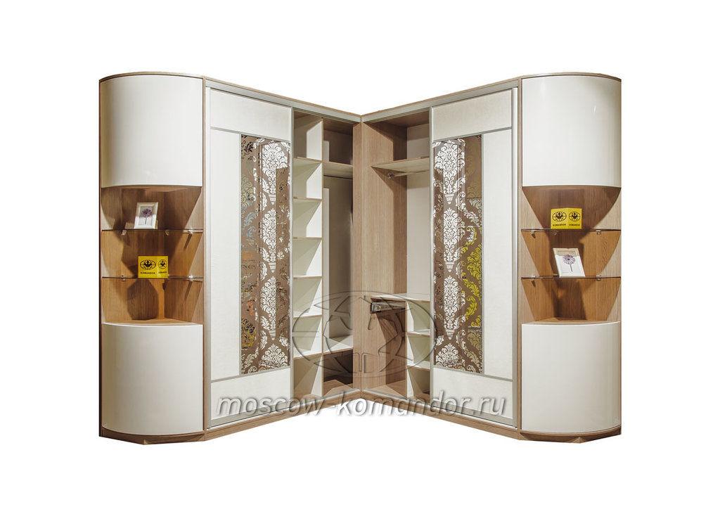 Угловой шкаф-купе komandor c радиусными фасадами в сергиевом.