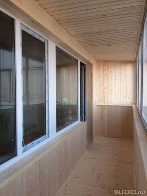 Обшивка балкона 6 метров в городе набережные Челны - на порт.