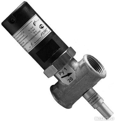 Клапан газовый запорный КЗГЭМ-У DN-25 электромагнитный ЦИТ