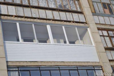 Алюминиевое остекление балкона 6 м, прямой, профиль provedal.