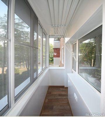 Алюминиевое остекление балкона 6 м, г-образный, профиль prov.