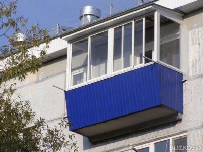 Алюминиевое остекление балкона 3 м, п-образный профиль prove.
