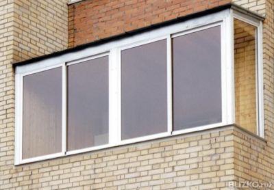 Алюминиевое остекление балкона 3 м, г-образный профиль prove.