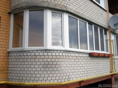 Пвх остекление балкона 6 м, г-образный, профиль alpenprof с .